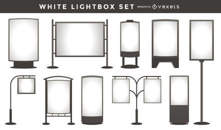 White lightbox template collection