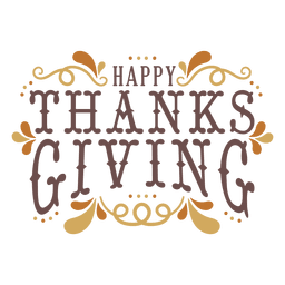 Feliz divisa de acción de gracias