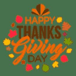 Feliz día de acción de gracias logo