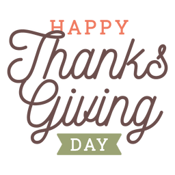 Thanksgiving day greetings badge