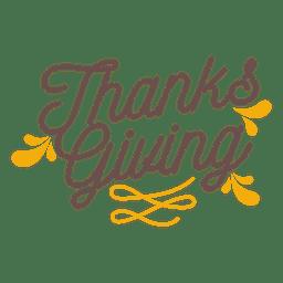 Insignia de vacaciones de acción de gracias