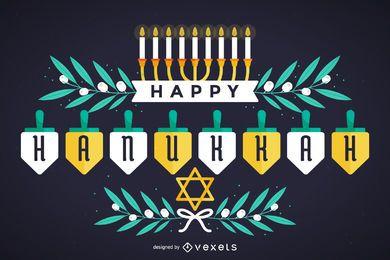 Feliz diseño de Hanukkah
