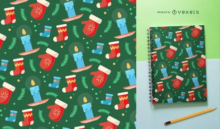 Christmas pattern with elements