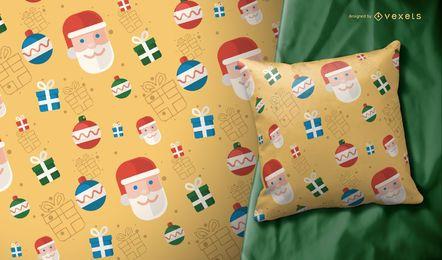Ilustración de patrón de Navidad Santa Claus