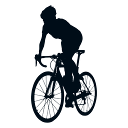 Cyclist spriting silhouette