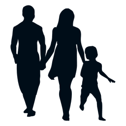 Family with child silhouette