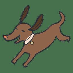 Dibujos animados de perro mascota feliz