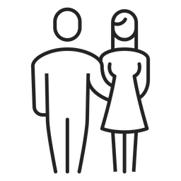 Man and woman family stroke