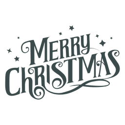 Merry christmas groovy lettering