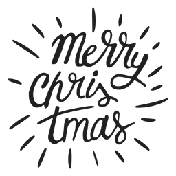 Merry christmas lettering badge