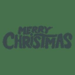 Merry christmas lettering badge christmas