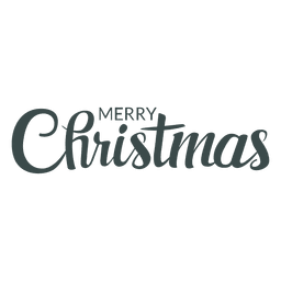 Merry christmas nice lettering