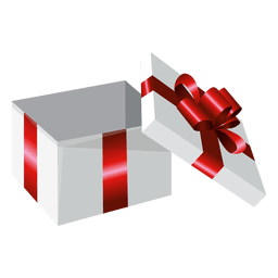 Open wrapped gift box
