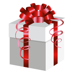 Red wrap present box