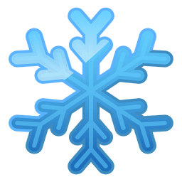 Shiny blue snowflake icon