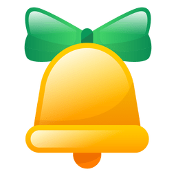 Shiny christmas bell icon