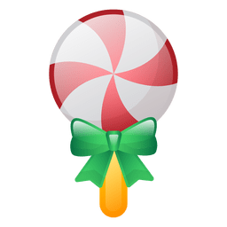 Shiny christmas lollipop icon