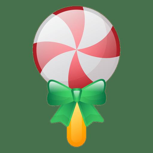 Shiny christmas lollipop icon Transparent PNG