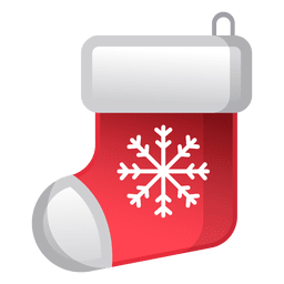 Shiny christmas sock icon