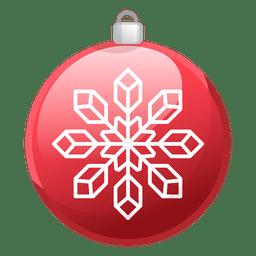 Shiny red christmas ornament icon