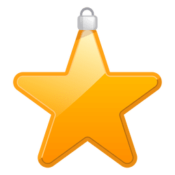 Shiny star ornament icon