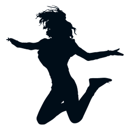 Woman jumping silhouette jump silhouette