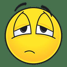 Cute tired emoticon