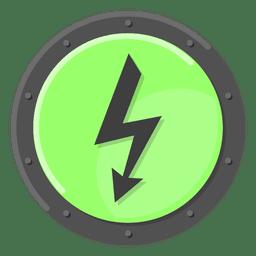 High voltage warning green