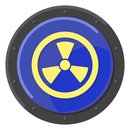 Nuclear warning blue