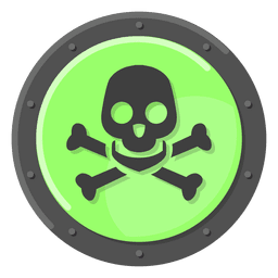 Poison warning green