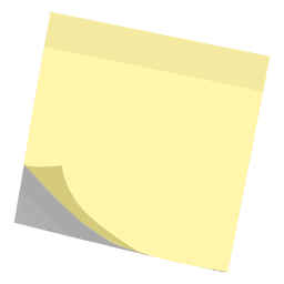 Yellow post it sticky note