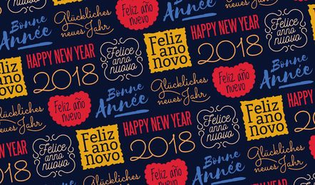 Colorful New Year seamless pattern