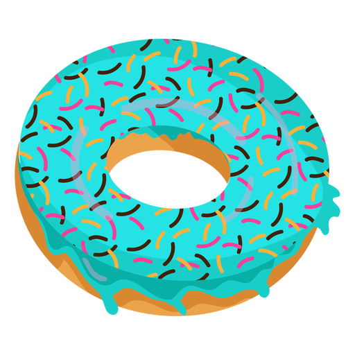 Blue glaze doughnut illustration Transparent PNG