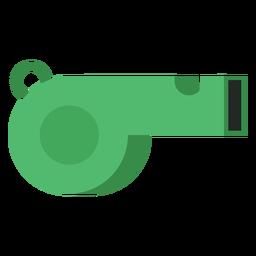 Green referee whistle icon