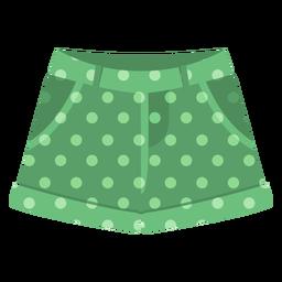Green shorts dots