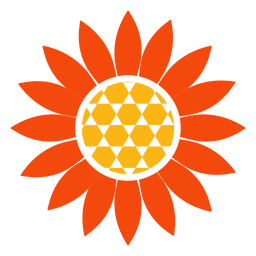 Flat sunflower head logo