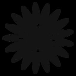 Grey sunflower head clipart