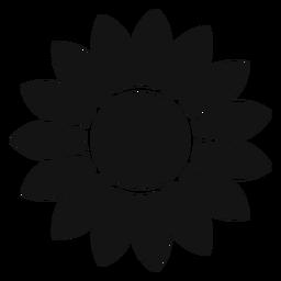 Grey sunflower head graphic