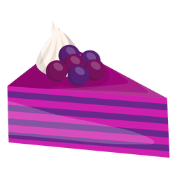 Triangle cake slice with berries