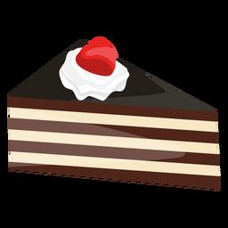 Triangle cake slice with strawberry