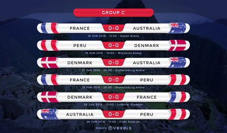 Russia 2018 Group C fixture