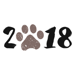 2018 dog year 2018 logo