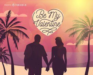 Valentine's Day couple illustration