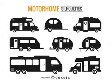Motorhome silhouette set