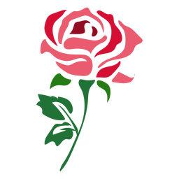 Beautiful red rose icon