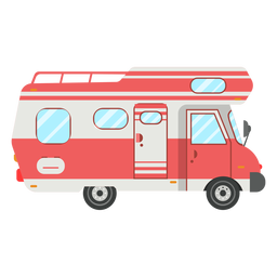 Camper vehicle vector