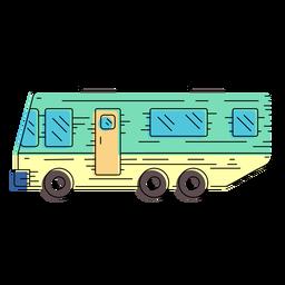 Campervan vehicle illustration
