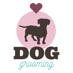 Dog grooming heart logo