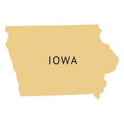 Iowa state plain map