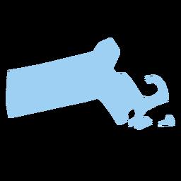 Massachusetts state plain map
